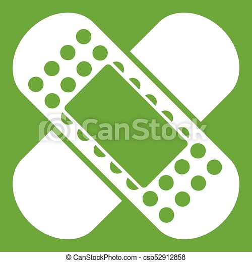Medical patch icon green - csp52912858