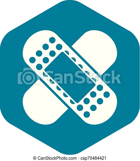 Medical patch icon, simple style - csp70484421
