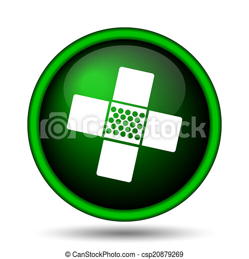 Medical patch icon - csp20879269