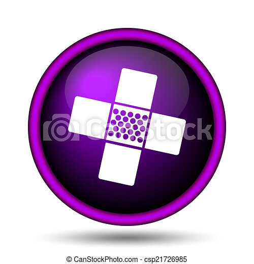 Medical patch icon - csp21726985