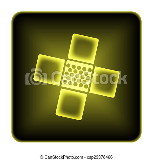 Medical patch icon - csp23378466