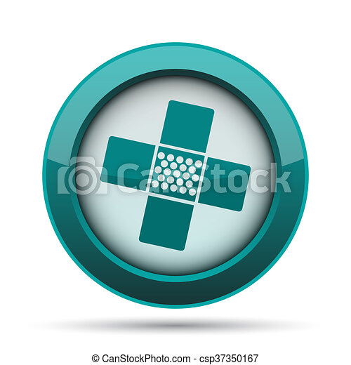 Medical patch icon - csp37350167