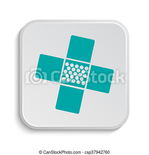 Medical patch icon - csp37942760