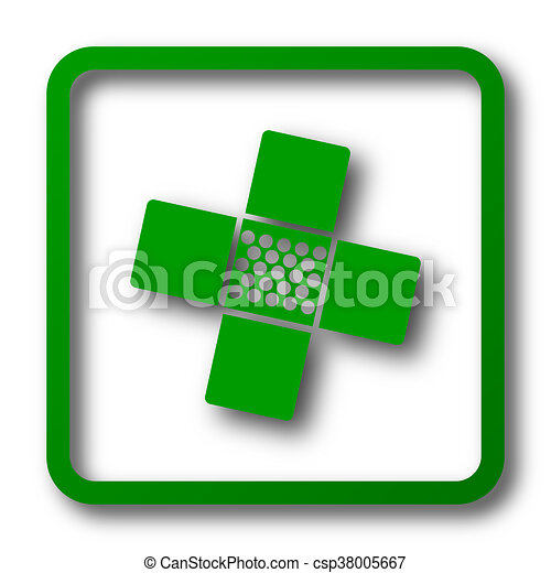 Medical patch icon - csp38005667