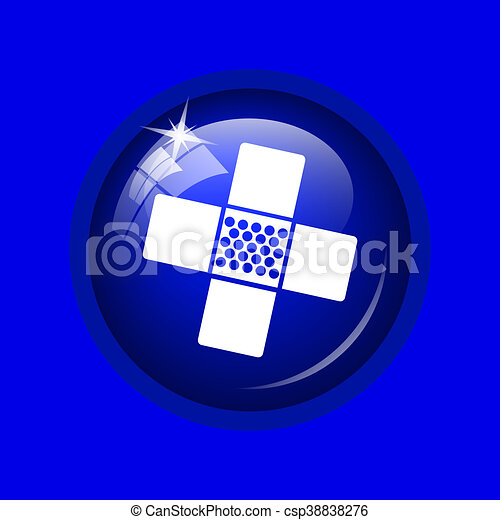 Medical patch icon - csp38838276
