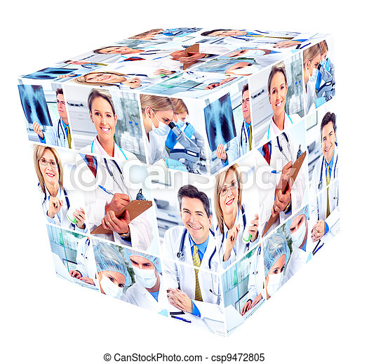 Medical people group. - csp9472805