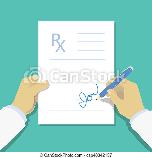 medical prescription pad flat design style rx form medical stock images search stock. Black Bedroom Furniture Sets. Home Design Ideas