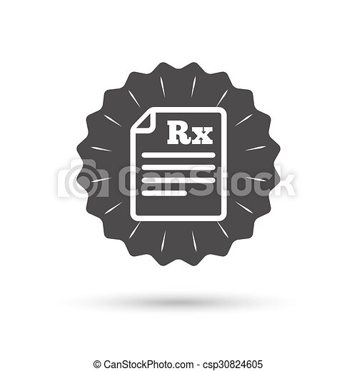 Medical Prescription Rx Sign Icon Pharmacy Vintage Emblem Medal