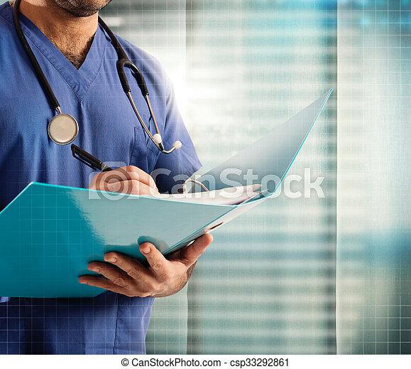 Medical record - csp33292861