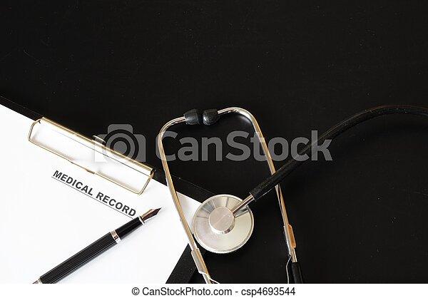 medical record - csp4693544