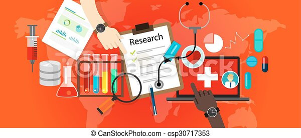 medical research icon science laboratory vector - csp30717353