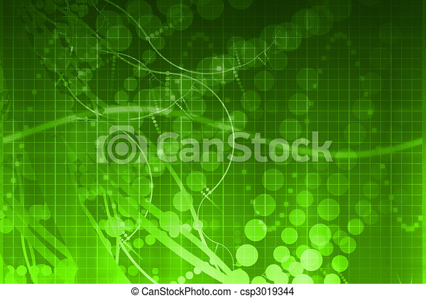 Medical Science Futuristic Technology Abstract - csp3019344