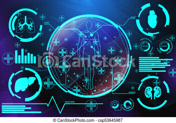 Medical Screen Background Creative Interface