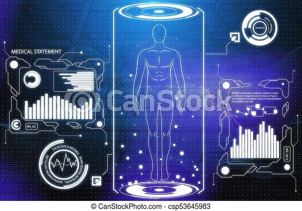 Medical screen wallpaper - csp53645983