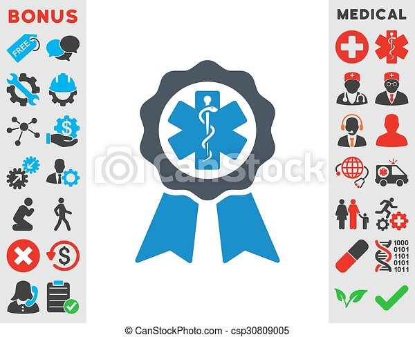 medical seal icon medical seal vector icon style is bicolor flat rh canstockphoto com Gold Seal Vector California State Seal Clip Art