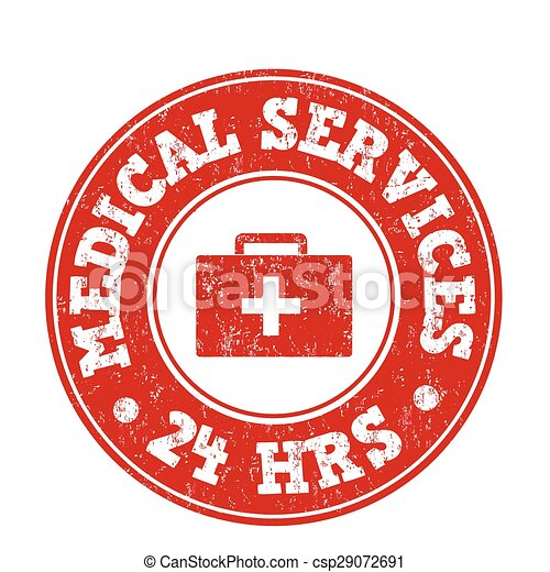 Medical services stamp - csp29072691