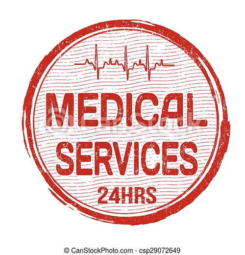 Medical services stamp - csp29072649