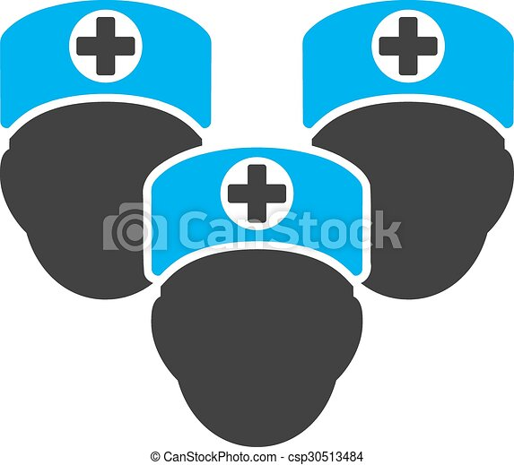 Medical Staff Icon Medical Staff Vector Icon Style Is Bicolor Flat