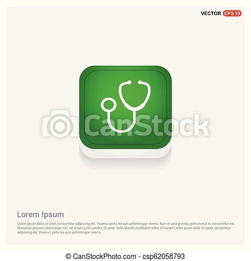 Medical stethoscope icon - csp62058793