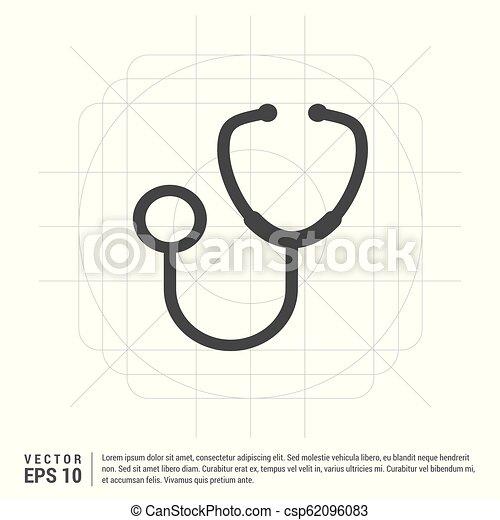 Medical stethoscope icon - csp62096083