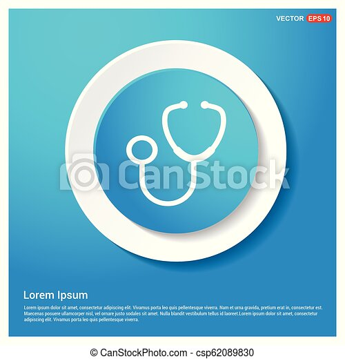Medical stethoscope icon - csp62089830