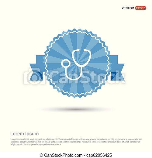 Medical stethoscope icon - csp62056425
