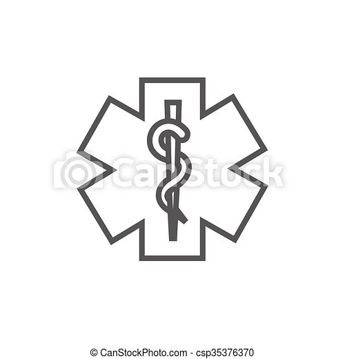 Medical symbol line icon. - csp35376370