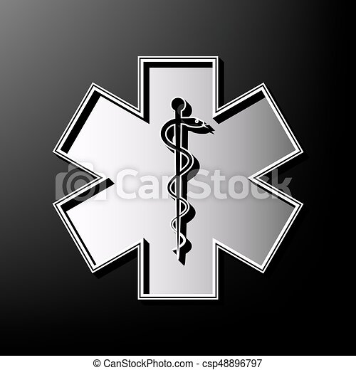 Medical Symbol Of The Emergency Or Star Of Life With Border Eps
