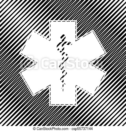 Medical Symbol Of The Emergency Or Star Of Life With Border Vector