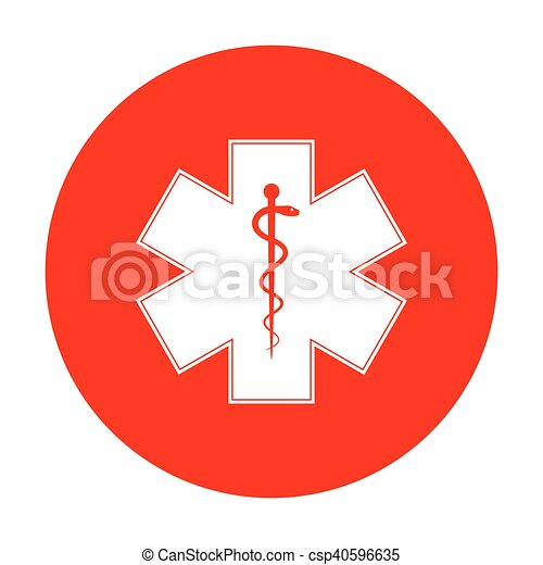 Medical Symbol Of The Emergency Or Star Of Life White Icon