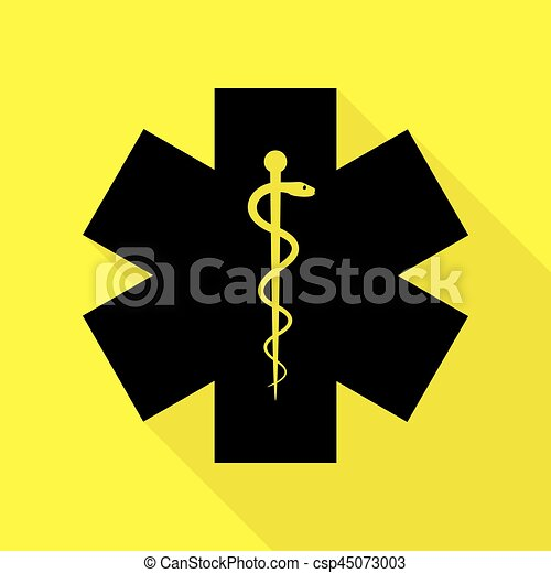 Medical Symbol Of The Emergency Or Star Of Life Black Icon
