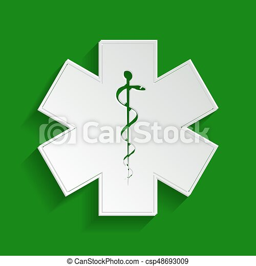 Medical Symbol Of The Emergency Or Star Of Life With Border