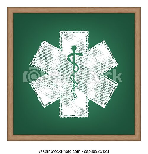 Medical Symbol Of The Emergency Star Of Life Icon Vector