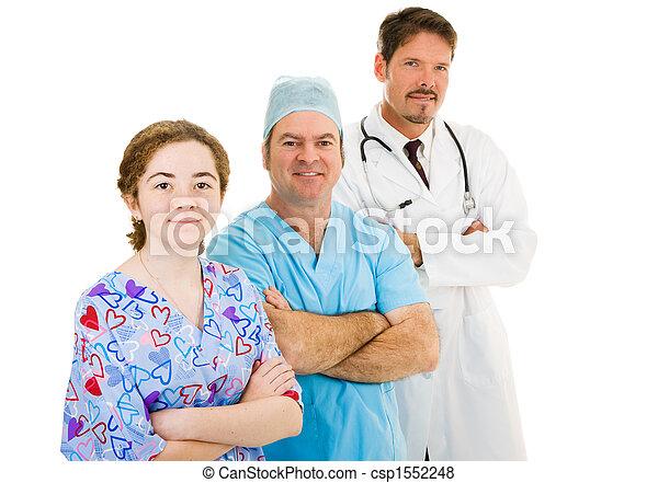 Medical Team on White - csp1552248
