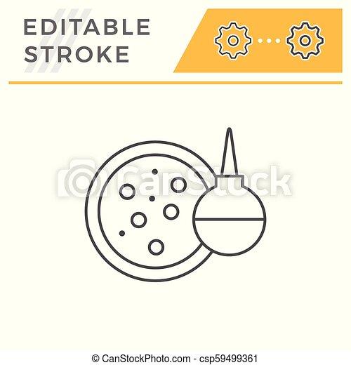 Medical test line icon - csp59499361