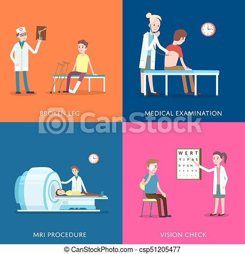 medical treatment and healthcare posters clinical analysis