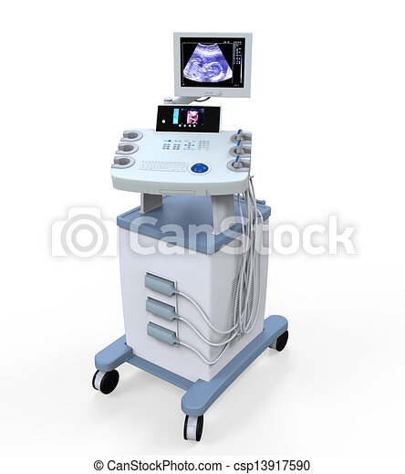 Medical Ultrasound Diagnostic Machi - csp13917590