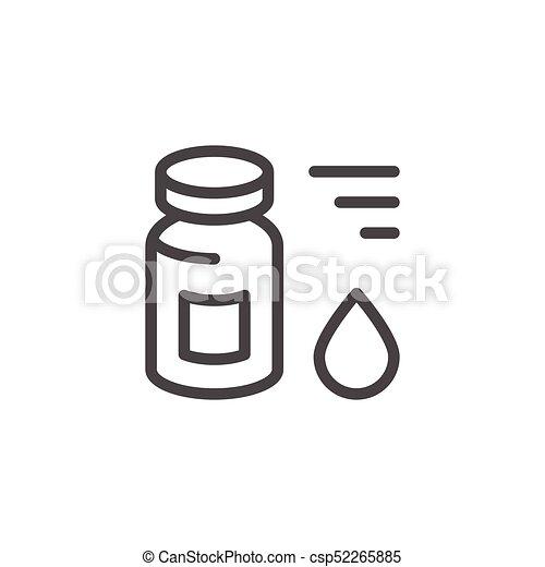 Medical vial line icon - csp52265885