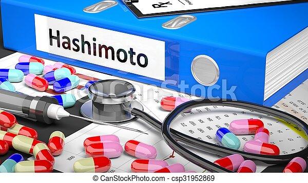 medicaments, medisch, blauwe , supplies., arts, tafel, map - csp31952869
