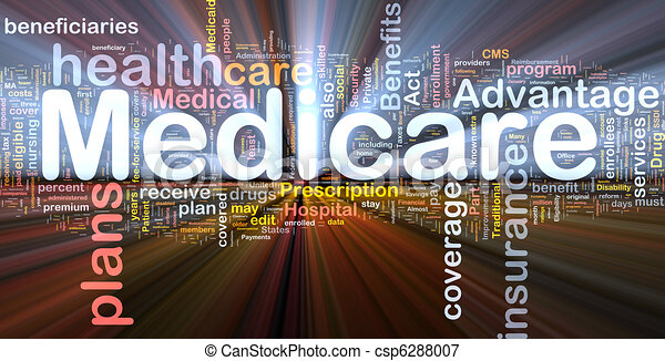 Medicare background concept glowing - csp6288007