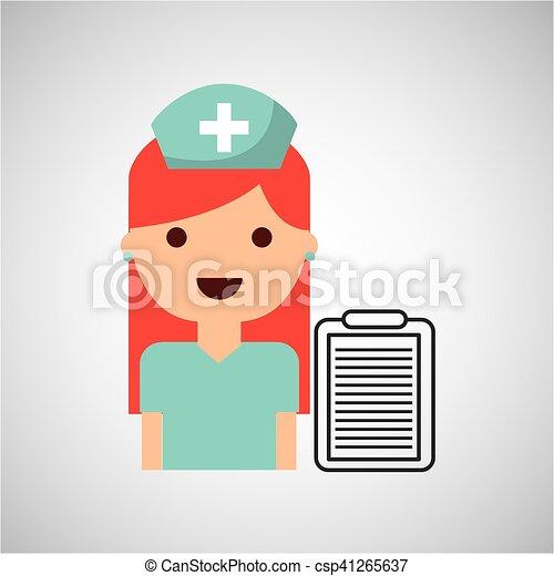 medicatie, charatcer, capsule, ontwerp, verpleegkundige, pil - csp41265637