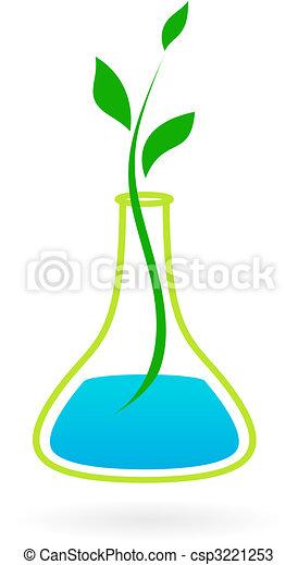 medicin, logo, grön - csp3221253