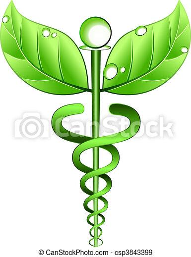 medicina, alternativa, vetorial, símbolo - csp3843399