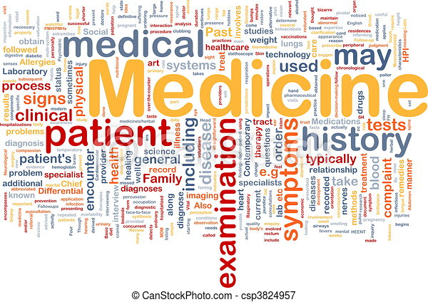 medicina, concetto, salute, fondo - csp3824957