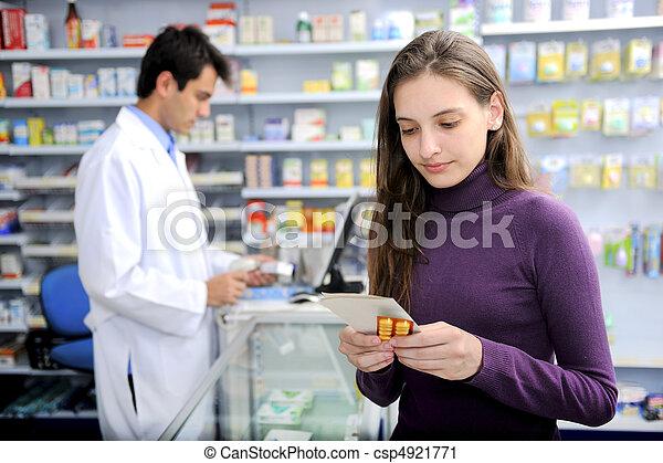 medicina, consumidor, farmacia - csp4921771