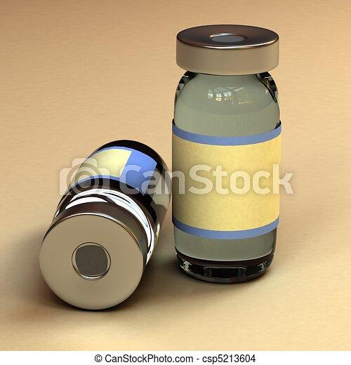 medicina, contenitore, bottiglia - csp5213604
