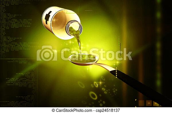 medicina, cucchiaio - csp24518137