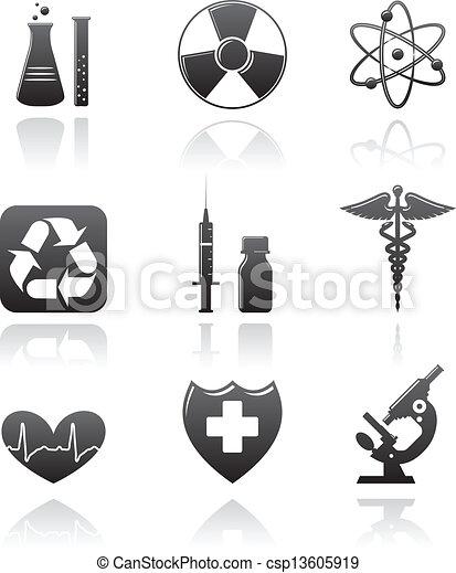 iconos de medicina - csp13605919