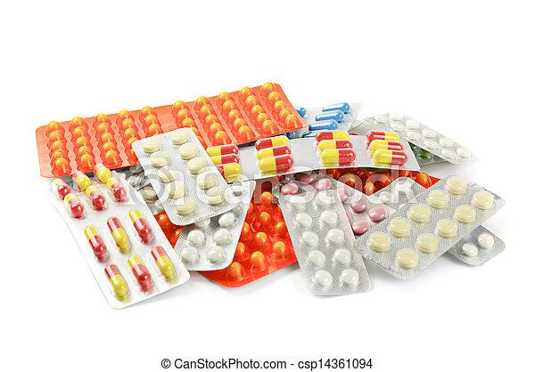 medicina, píldoras, multicolor - csp14361094