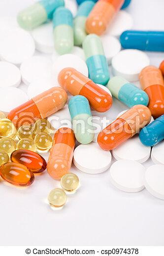 Pastillas medicinales - csp0974378